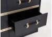 Chevet Cap Horn - 3 tiroirs - Façon Galuchat noir