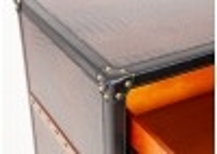 Commode Cap Horn 6 tiroirs - Marron foncé façon croco