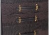 Commode Cap Horn 5 tiroirs - Marron foncé façon croco
