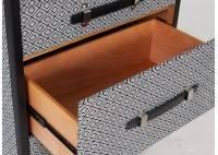 Commode Cap Horn 5 tiroirs -Tissu tramé