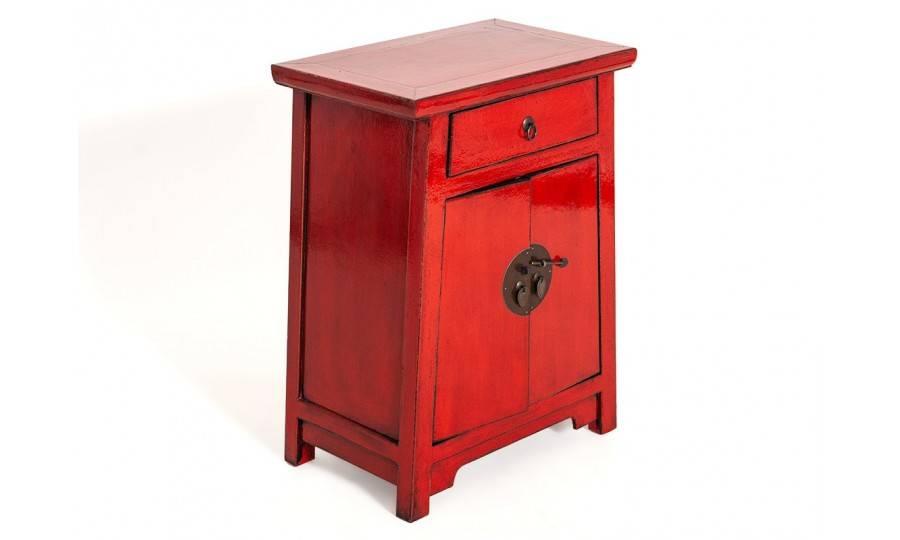 Petit meuble chinois rouge