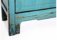 Buffet Chinois - 2 portes 2 tiroirs - Bleu lagon