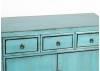 Buffet Chinois - 2 portes 3 tiroirs - Bleu lagon