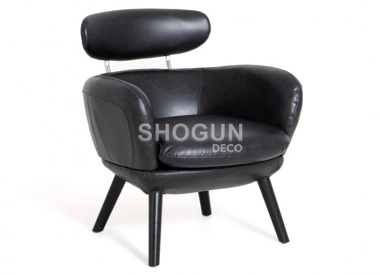 Fauteuil club Rubis - cuir noir