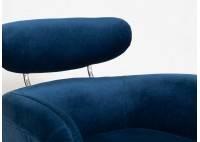 Fauteuil club Rubis - velours bleu nuit