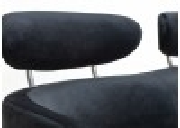 Canapé Rubis - 2 places - velours noir