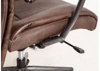 Fauteuil de bureau cuir marron vintage