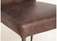 Chaise Norton - Cuir marron et métal noir