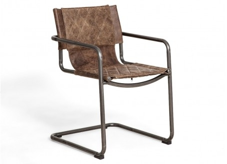 Chaise Dexter - Cuir marron