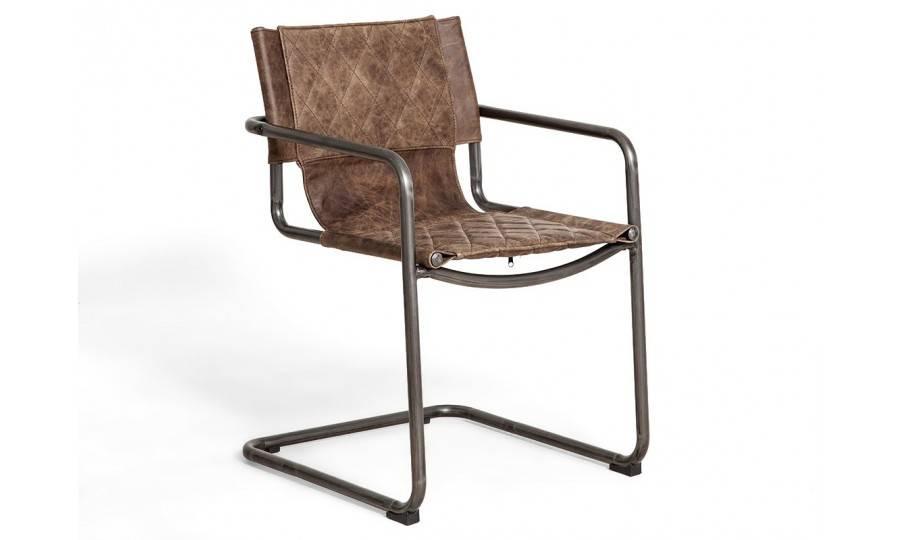 Chaise Dexter - Cuir marron