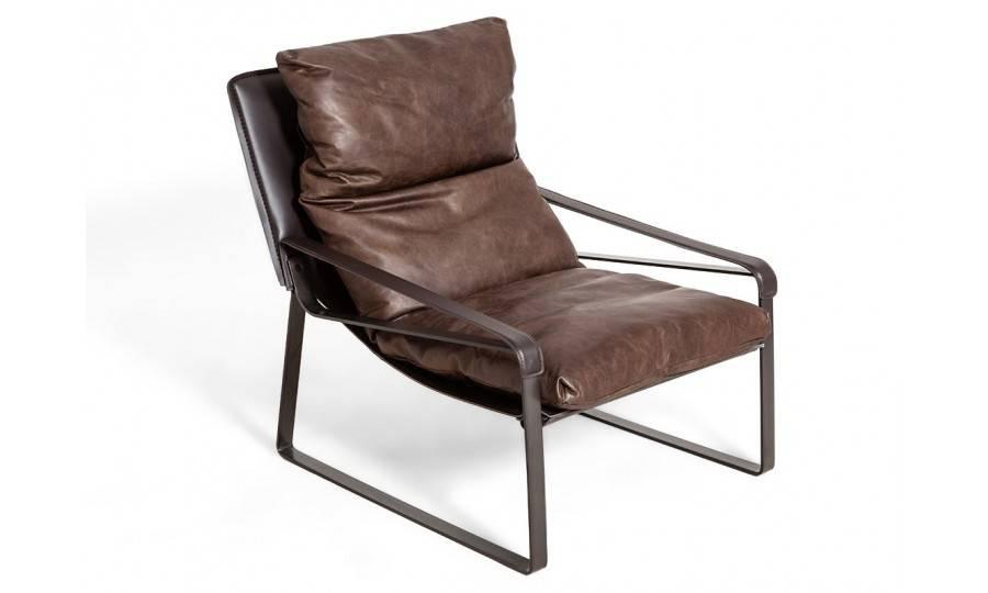 Fauteuil confort Buffalo - Cuir marron