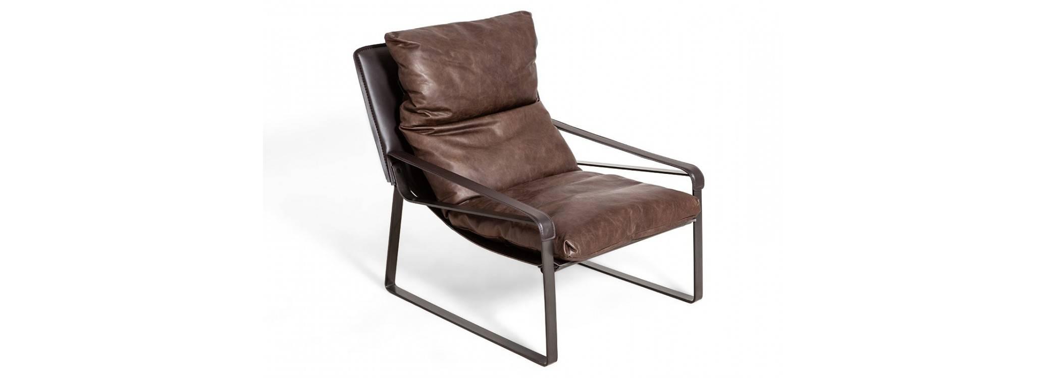 Comfort armchair Buffalo - Brown leather