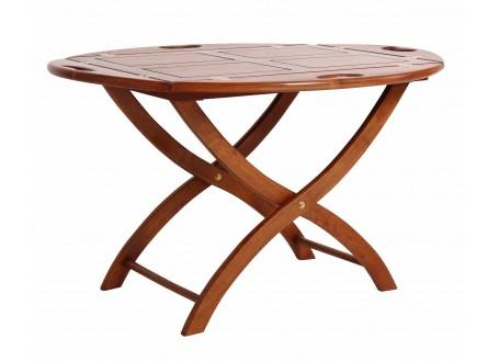 Folding coffee table marine Glasgow - oval