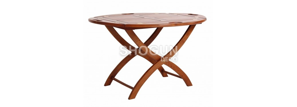Folding coffee table marine Glasgow - square