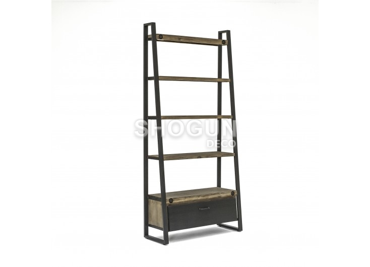 Bibliothèque Mirage - 2 portes / 2 tiroirs