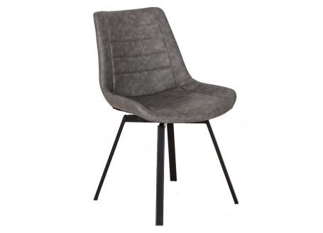 Chaise pivotante en simili gris