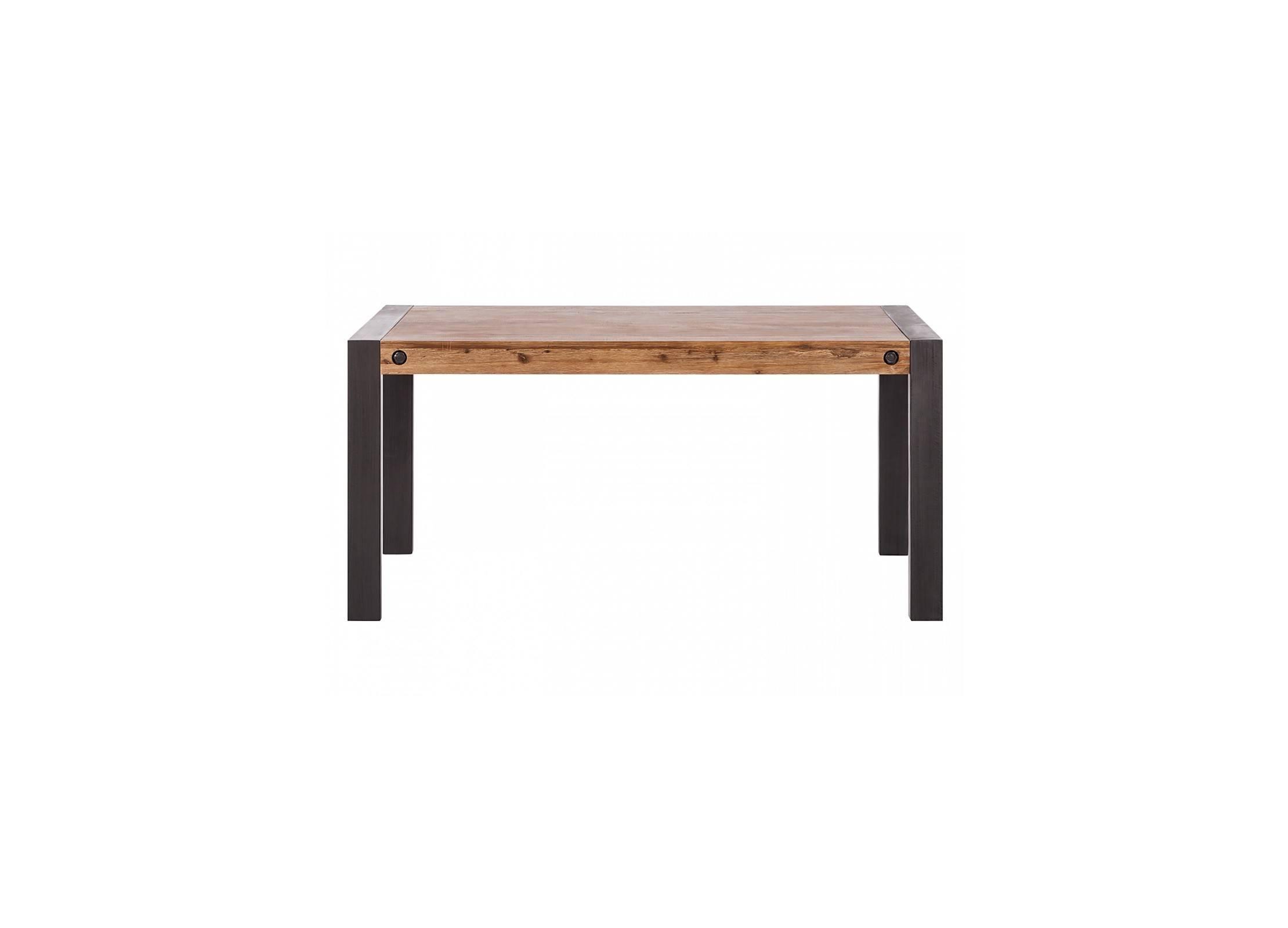 table manger avec allonge indus 160 210 cm bois. Black Bedroom Furniture Sets. Home Design Ideas