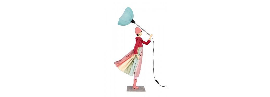 Lampe femme au parapluie - Anatole