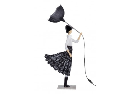 Lampe Aura - fille au parapluie