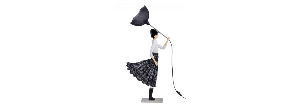 Lampe femme au parapluie - Aura