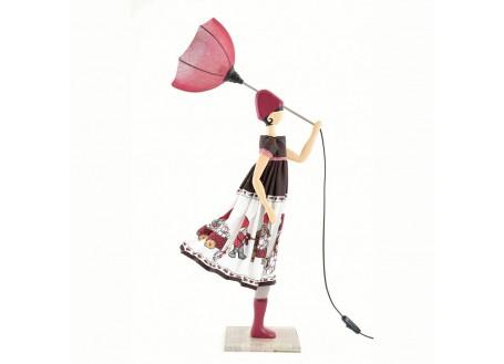Lampe Cecilia - fille au parapluie