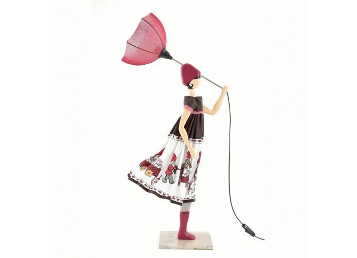 Lampe Aloe - fille au parapluie