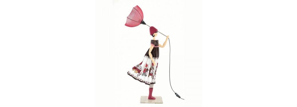 Lampe femme au parapluie - Eftyhia
