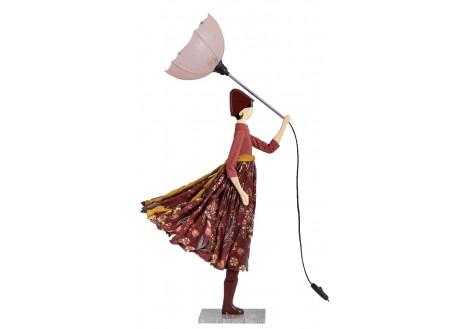 Lampe femme au parapluie - Hiyo