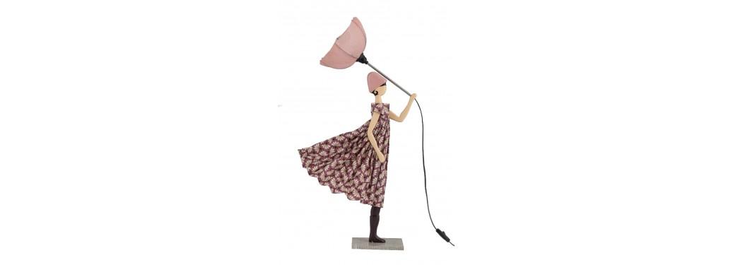 Lampe femme au parapluie - Iakinthi