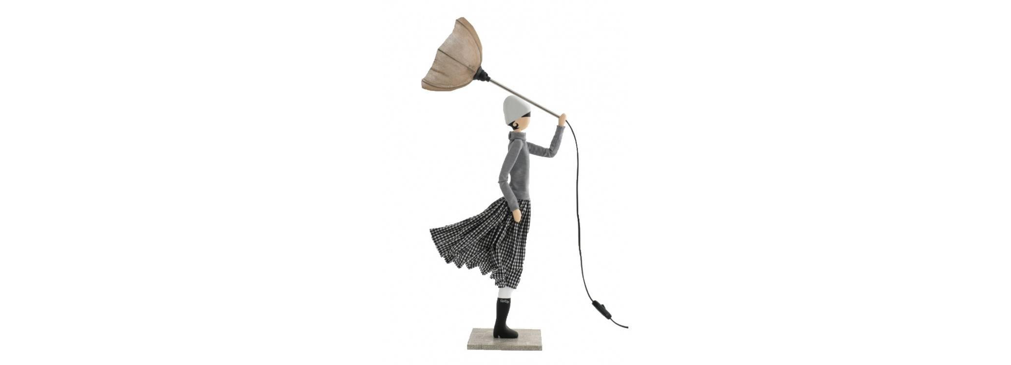 Lampe femme au parapluie - Iro