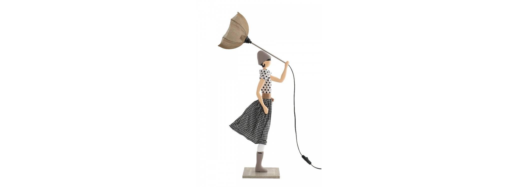 Lampe femme au parapluie - Jean Marie