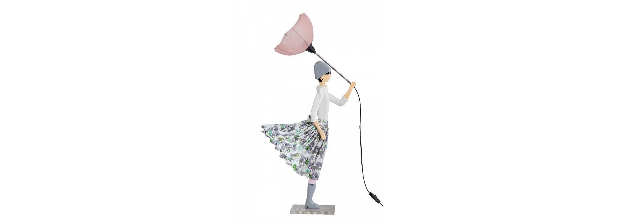 Lampe femme au parapluie - Mella