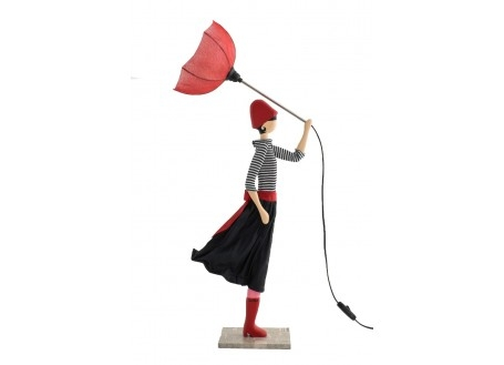 Lampe femme au parapluie - Nicoletta
