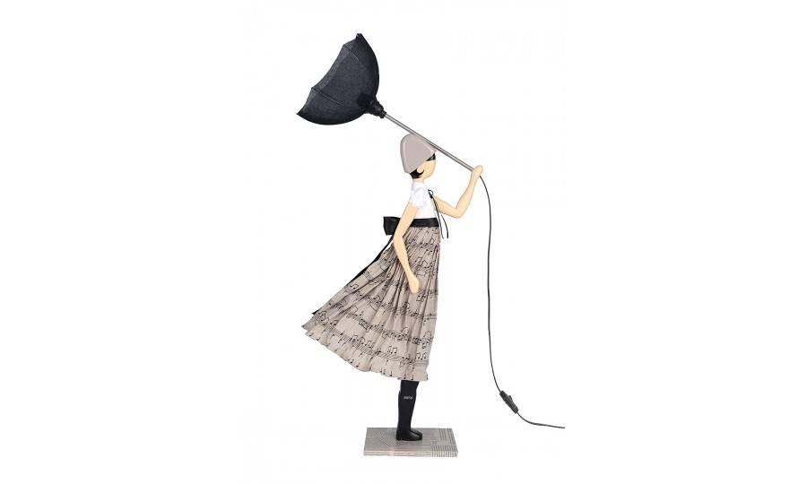 Lampe Nota - fille au parapluie