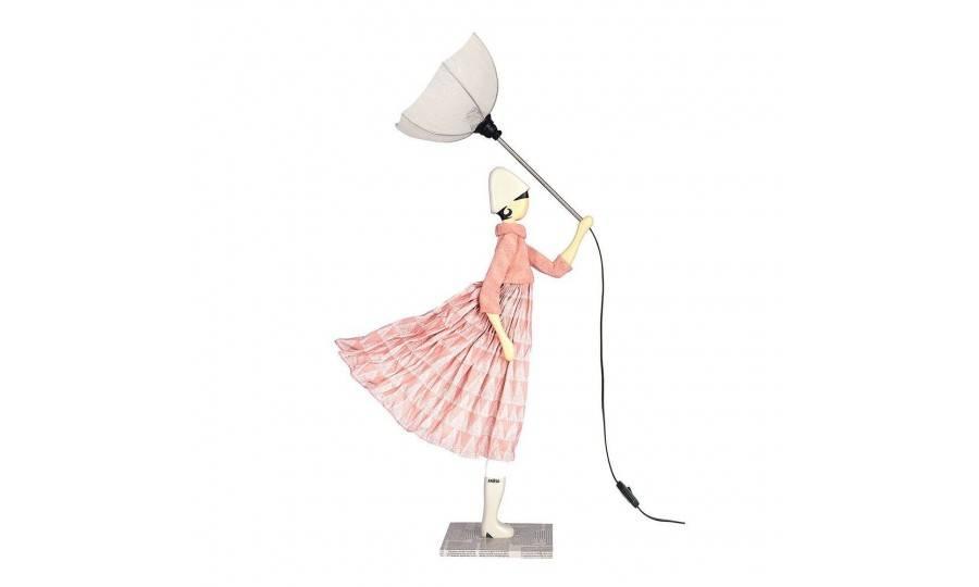 Lampe Pavlova - fille au parapluie