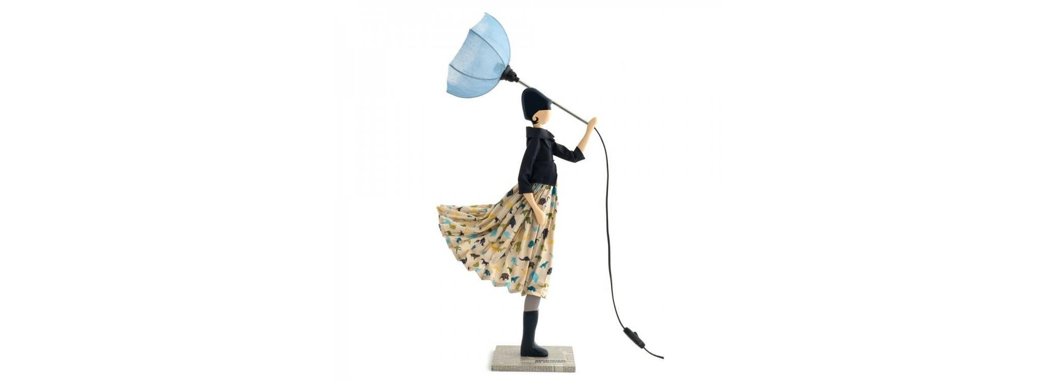 Lampe femme au parapluie - Zaoli