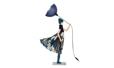 Lampe Pepper Ann - fille au parapluie