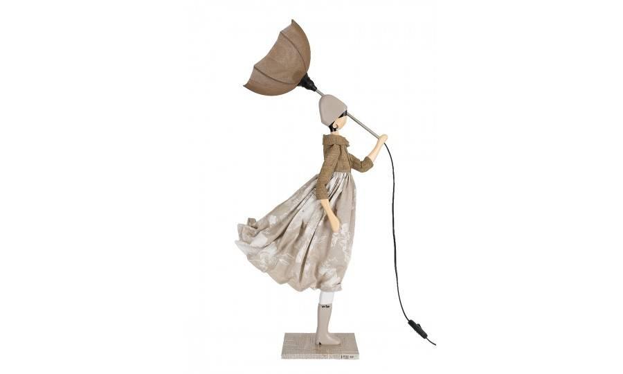 Lampe Touli - fille au parapluie