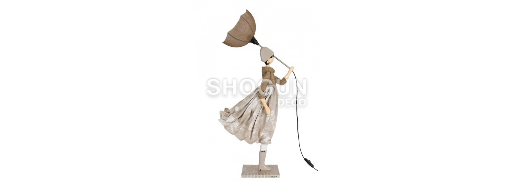 Lampe femme au parapluie - Touli