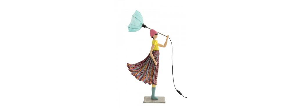 Lampe femme au parapluie - Nena