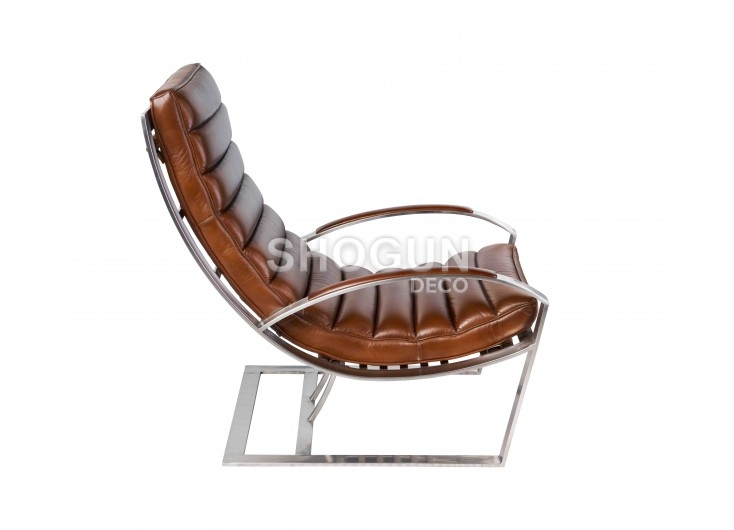 Fauteuil relax Madrid - Cuir marron vintage