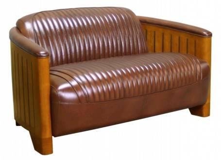 Canoë Sofa - Brown leather