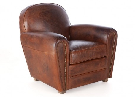 Club armchair Churchill - Brown leather