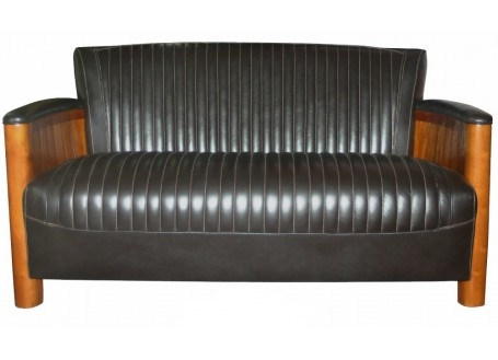 Cognac sofa - Brown leather
