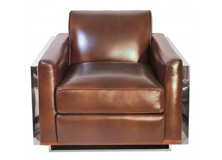 Aston sofa - Brown leather