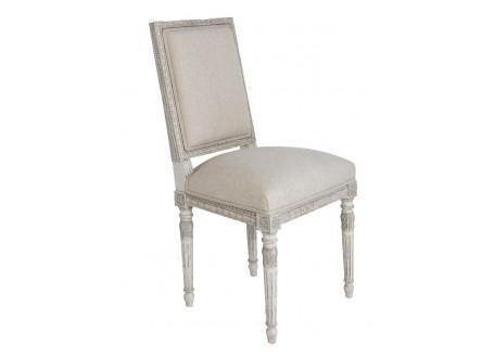 Chaise garnie Louis XVI, deux tons de gris
