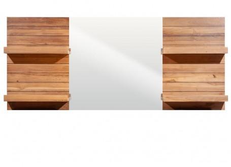Miroir de salle de bain avec étagères