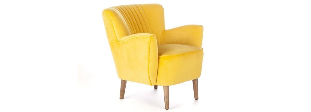 Fauteuil Twenties - jaune