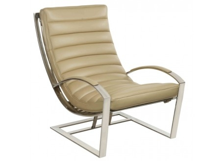 Fauteuil relax Madrid - Cuir beige