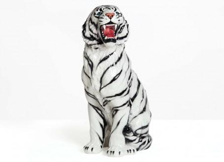 Statue tigre en céramique